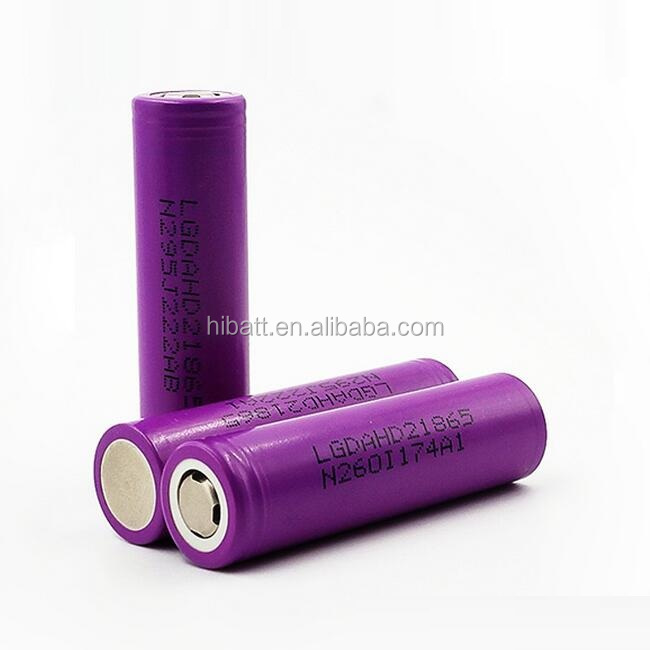 Lithium ion LG HD2 battery ICR18650 2000mAh 3.6V power 7.2Wh high discharge current 25-40A
