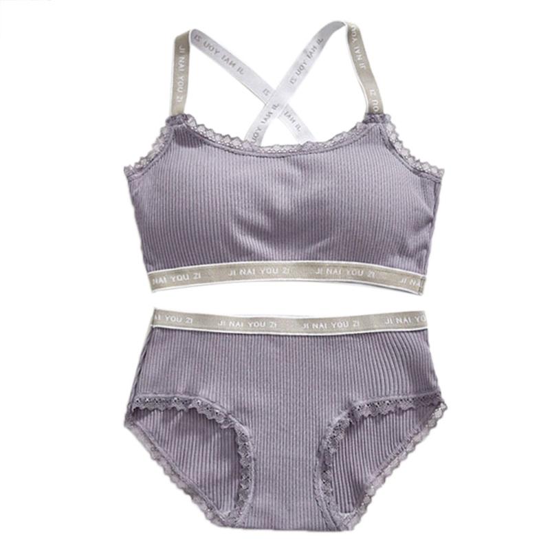 151dae7a24322 2019 Women Exercise Fitness Yoga Sports Bra Set Cross Back Letter ...