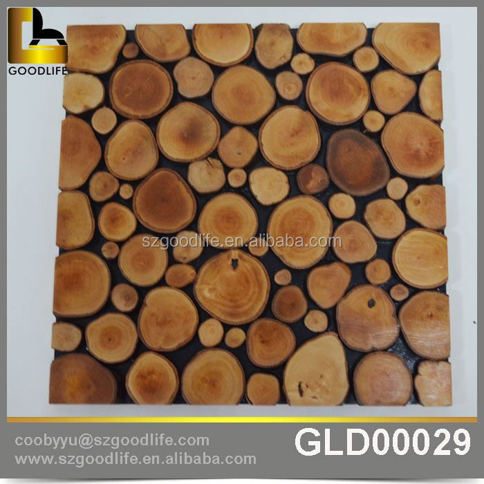 China manufacturer natural solid wood mosaic for wall decoration Exports to Chile