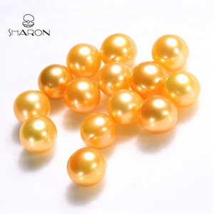 Special Color 7-8mm South Sea Gold High Luster Round Freshwater Loose Pearls