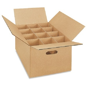OEM/ODM printing Logo mailing shipping delivering corrugated paper box with dividers