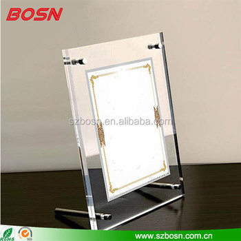 Manufactory wholesale custom cheap acrylic ornate picture frames with screw