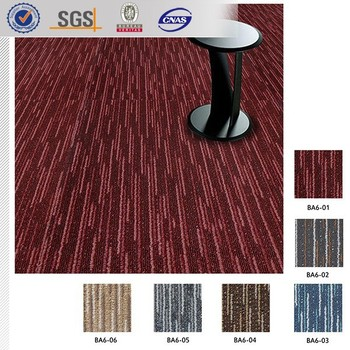 Non Toxic Meeting Room Carpet Tiles 50x50 100 Pp Red Modular