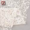 Luxury quality French white wedding dress embroidery heavy beads bridal lace fabric