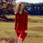 2019 V-neck knitted 100% cashmere pullover clothes women sweater dress