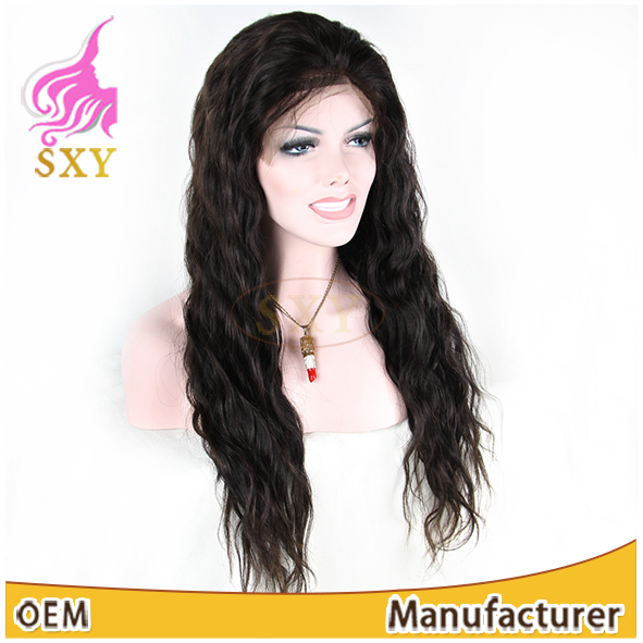 100% Human Hair Handtied Swiss Lace Wig for Women