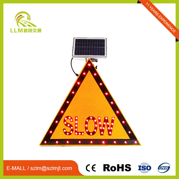 Quality Assurance Red slow logo traffic sign