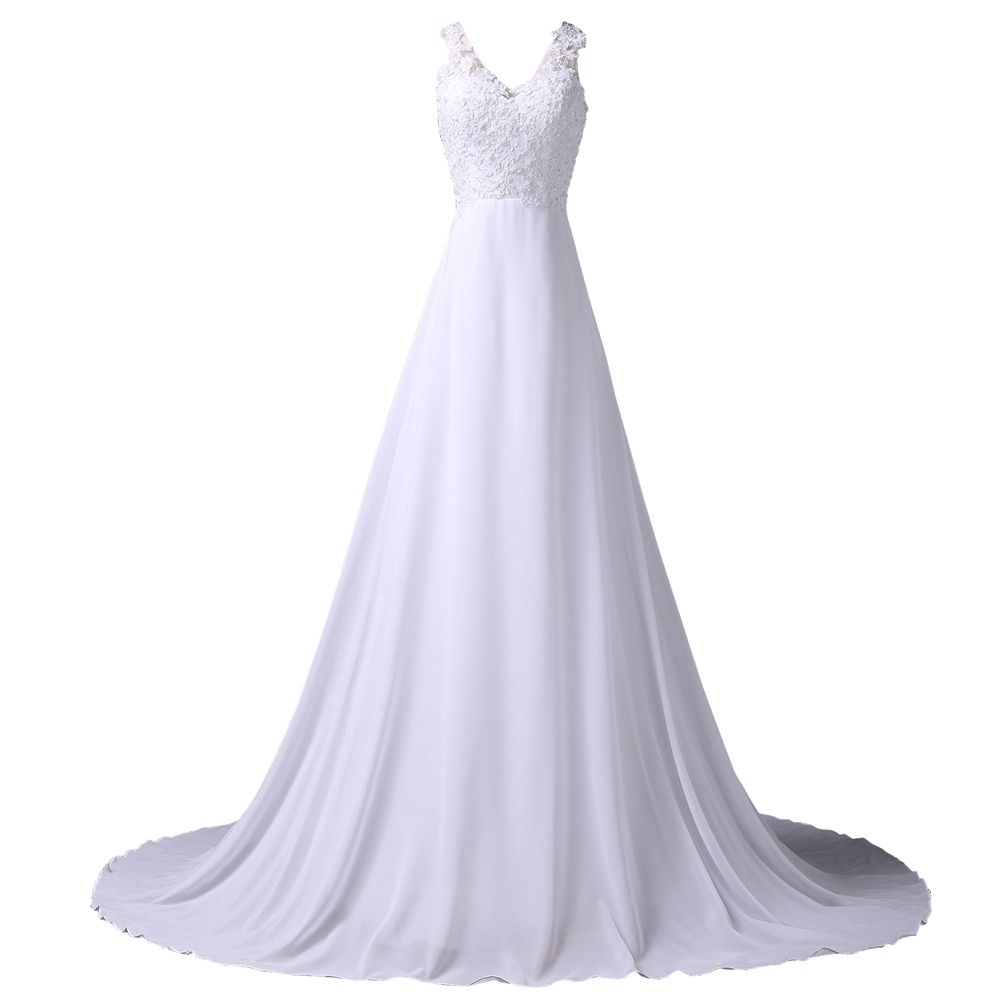 Simple Elegant Long Sleeve V Neck A Line Lace Top Satin: Elegant White Sleeveless Deep V Neck A Line Evening Dress