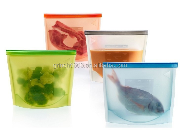Food Grade Silicone Vacuum seal food bags,resealable vacuum food bags