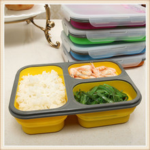 Professional foldable silicone school/ office lunchbox for wholesale