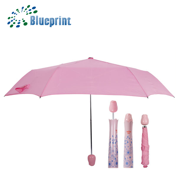 Nicely Fashion 3 Compact Rose Bottle Umbrella For Promotion Gift