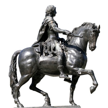 popular roman style metal life size knight riding horse statue