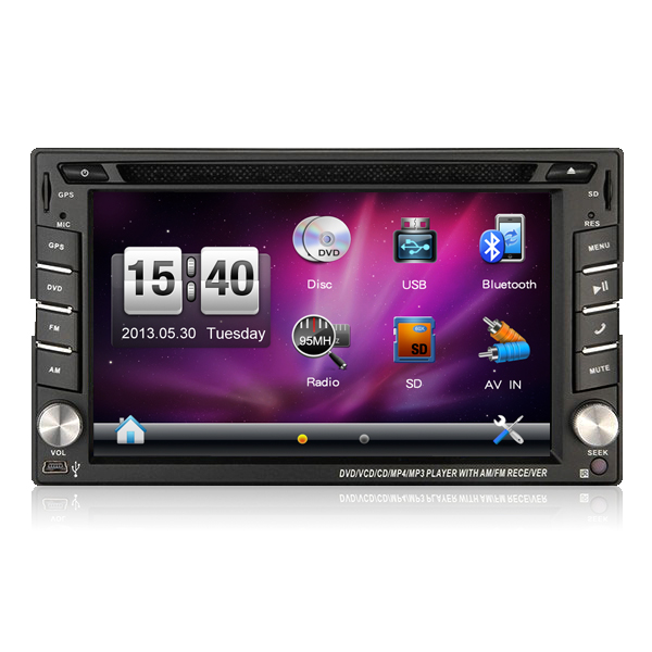 Good quality wince 6.2inch touch screen universal car recorder with GPS Bluetooth Radio DVD VCD