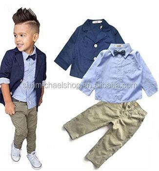 a7e7da4d6 2019 New Children clothes elegant baby boys fashion wear for 2-7 T smart  boys