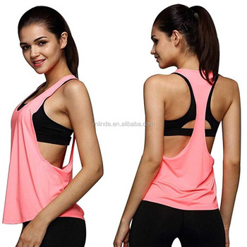 ce837b7744c1c2 100 Polyester Tank Tops Womens Sexy Open Side Sleeveless Racerback O Neck  Loose Sport Tank Top