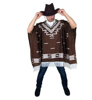 Fancy Dress Mexican Cowboy Poncho Costume Stag Nights SA3291