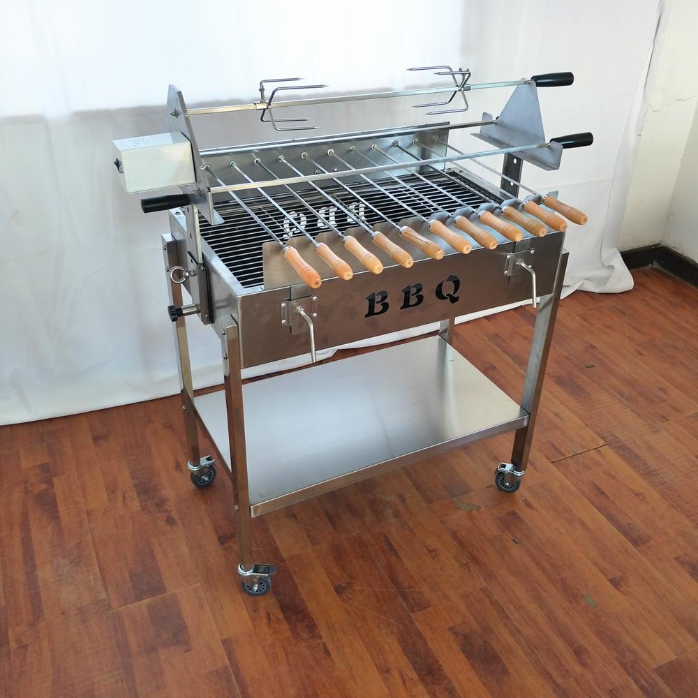 Chariot Barbecue Au Charbon De Bois Grec Brésilien Broche