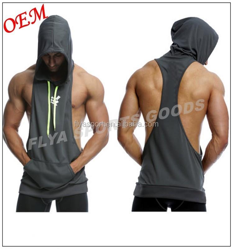5a2d547abd051 OEM En Gros Personnalisé Mens Plaine Dos Nageur Fitness Musculation  Musculaire De Gymnastique Sans Manches À