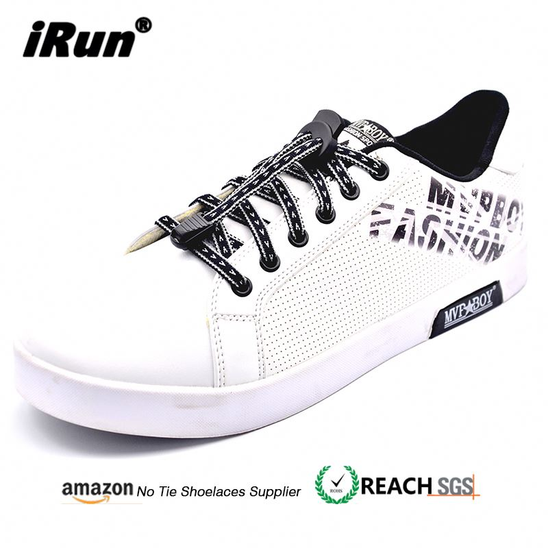 iRun 2018 Ebay Best Sell No Tie Reflective Flat Lock Laces Shoe String Holders
