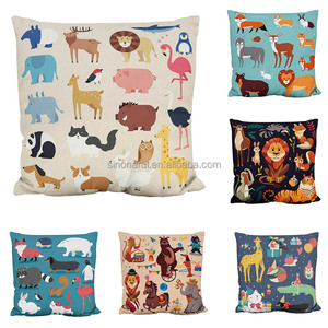 Promotional Digital Printed Custom Design Cute Animal Cushion Covers For Home Decoration