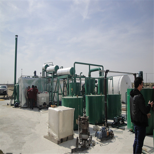 modular type change black to yellow waste car mobile oil refinery plant
