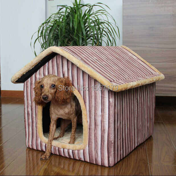 new indoor wood grain pet dog cat house beds kennel gabardine size m l xl in houses kennels. Black Bedroom Furniture Sets. Home Design Ideas