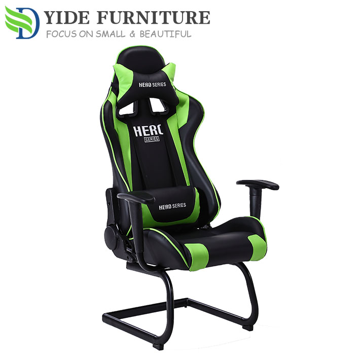 Brilliant Green Leather Swivel Computer Chair Adjustable Office Chair No Wheels Buy Adjustable Chair No Wheels Computer Chair Office Chairs No Wheels Product Gmtry Best Dining Table And Chair Ideas Images Gmtryco