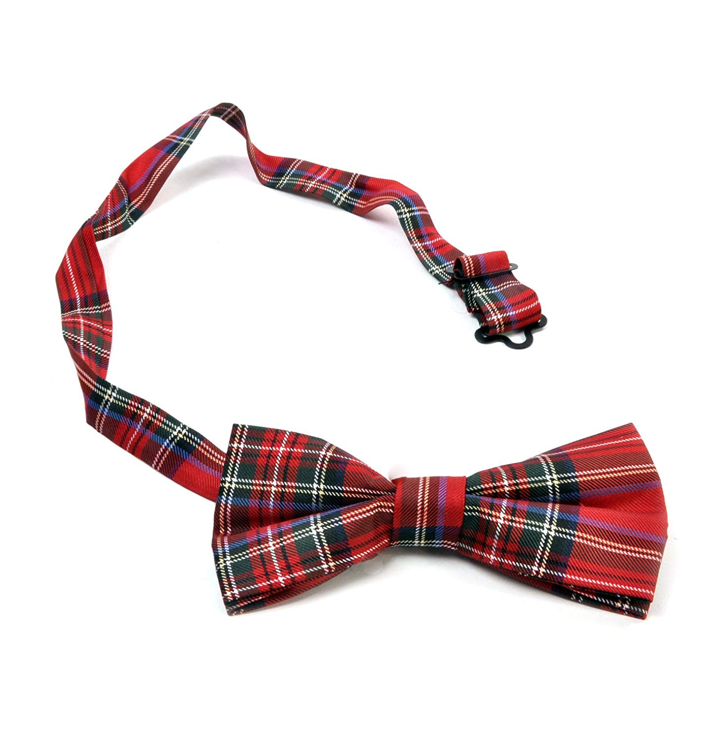 BIG RIBBON TARTAN STEWART SCOTTISH PLAID CHRISTMAS BOUTIQUE HAIR BOW CLIP GRIP