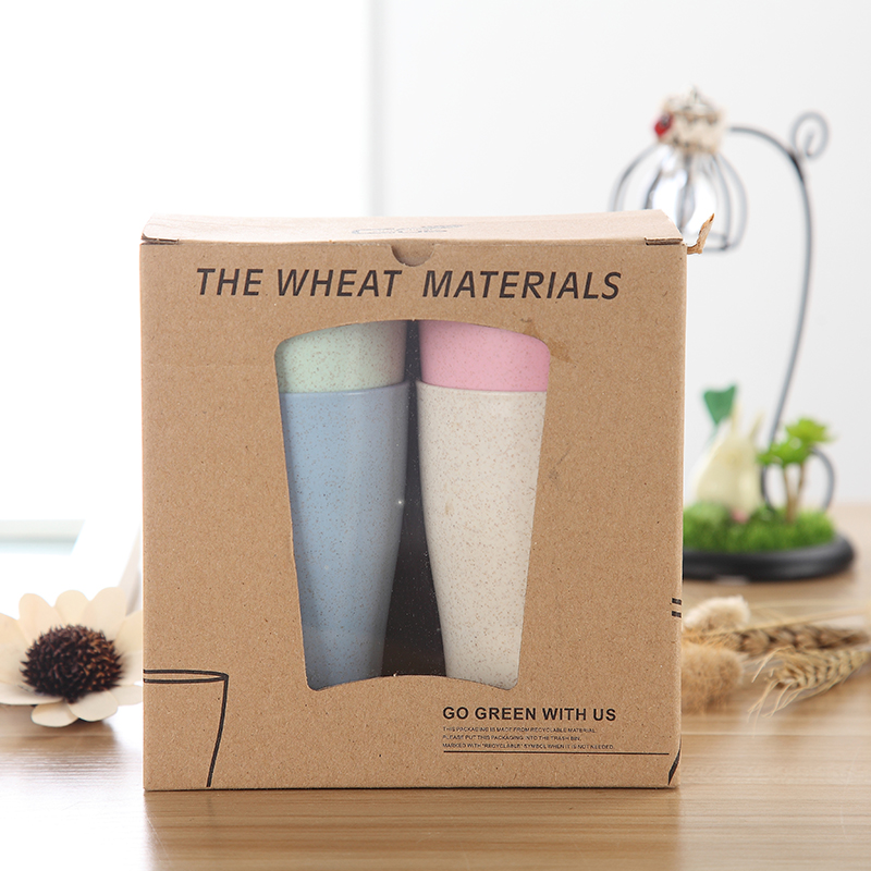 Eco-friendly 9oz Plastic Straw Cup BiodegradableTravel Coffee Cups Tumbler Cups