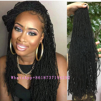 Synthetic Micro Locs Crochet Braids 18inch 80strandspack Afro