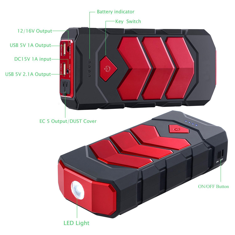 2019 High Quality 16800mAh Multi-function Portable Car Jump Starter