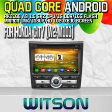 Witson S160 Android 4.4 Car DVD GPS For HONDA CITY 2011 with Quad Core Rockchip 3188 1080P 16g ROM WiFi
