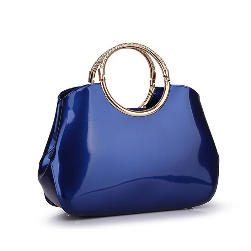 40e14a4a5168 Get Quotations · 2015 Luxury and Elegant Women Patent Leather Frame Handbag  Sac A Main Femme De Marque Shoulder
