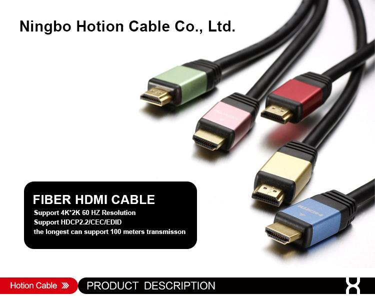 Schwarz vergoldet 1m 1,5 m 2m 3m 5m 4K 2,0 version HDMI kabel
