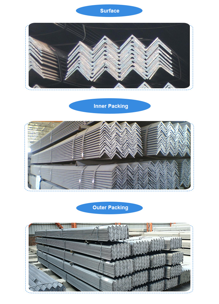 Galvanized mild steel equal angle iron hot rolled steel angel bar