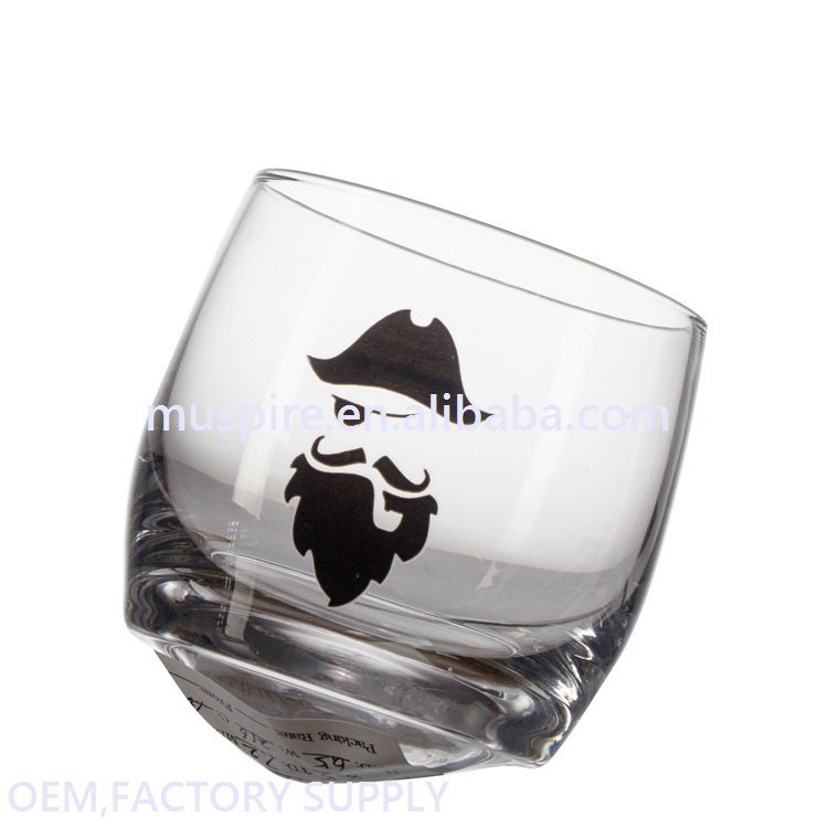 China supplier manufacture best price regular sizes slant drinking glass