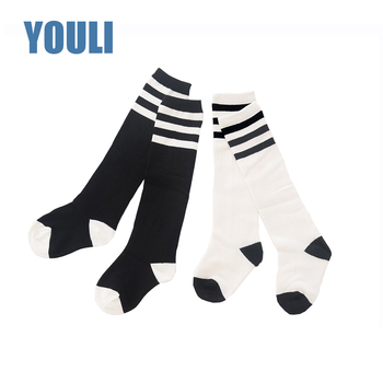 27cca0c4206e5 Custom kids knee high cotton white socks; wholesale school girls knee high  socks