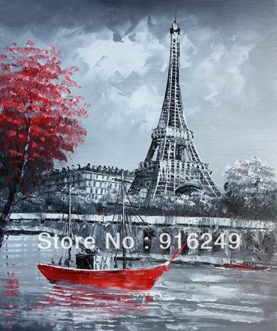 Oil Painting Paris Landscape Paris oil painting on Canvas