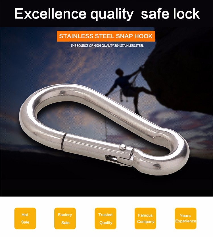 Price for Stainless Steel SS304 Snap Hook Carabiner Spring