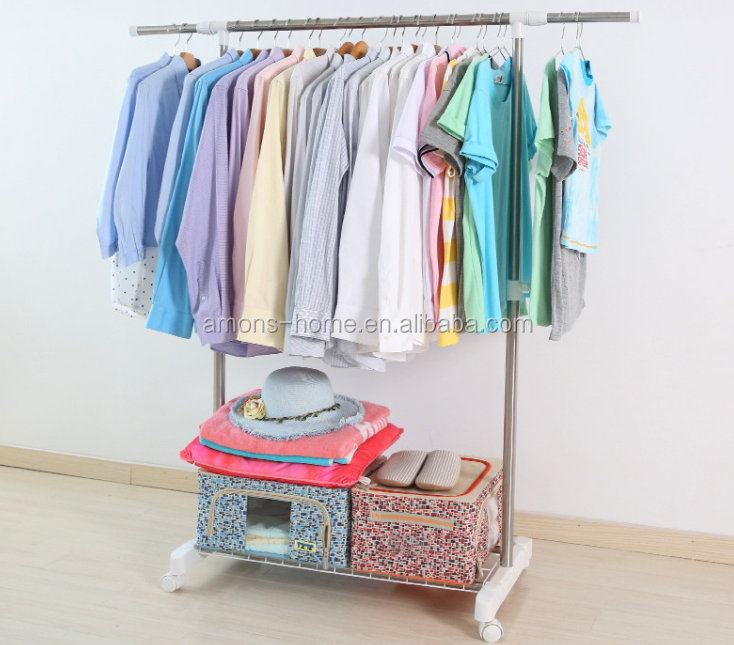Telescopic Double Rail Extendable Clothes Drying Rack