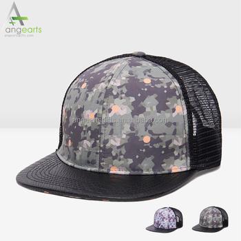 01a492a6d5811 Custom printed half mesh trucker cap customised personalised snapback hats