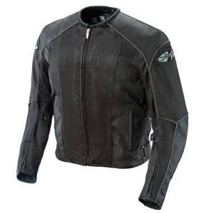 Joe Rocket Mens Phoenix 5.0 Mesh Textile Motorcycle Jacket Black/Black XXL-Tall 2XL-Tall