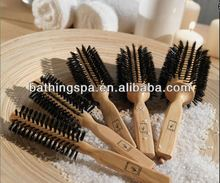 Hot selling wooden hair brush with boars bristles