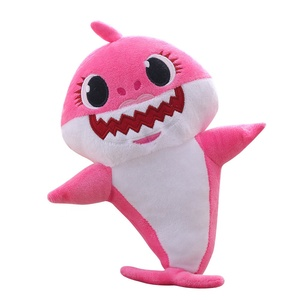 RTS USA Hot Sell 30cm Baby Shark Plush Toy Flash And Singing Baby Shark  Stuffed Soft Toy