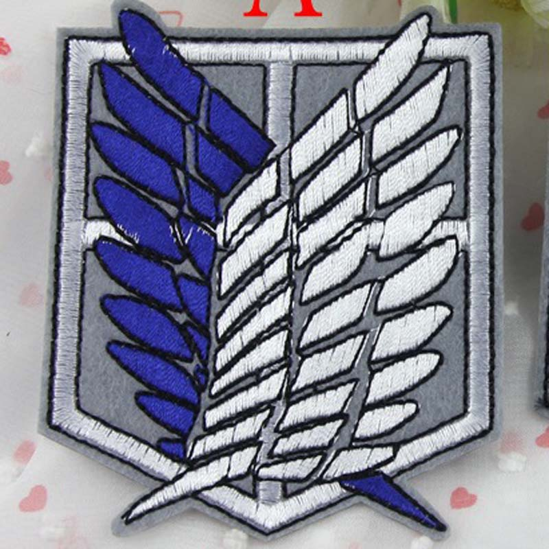 Cartoon Iron On Anime Attack Wings Of Freedom On Embroidered Titan Clothes Patch For Clothing Girls Boys Cartoon Iron On Iron Oniron On Patch Embroidered Aliexpress