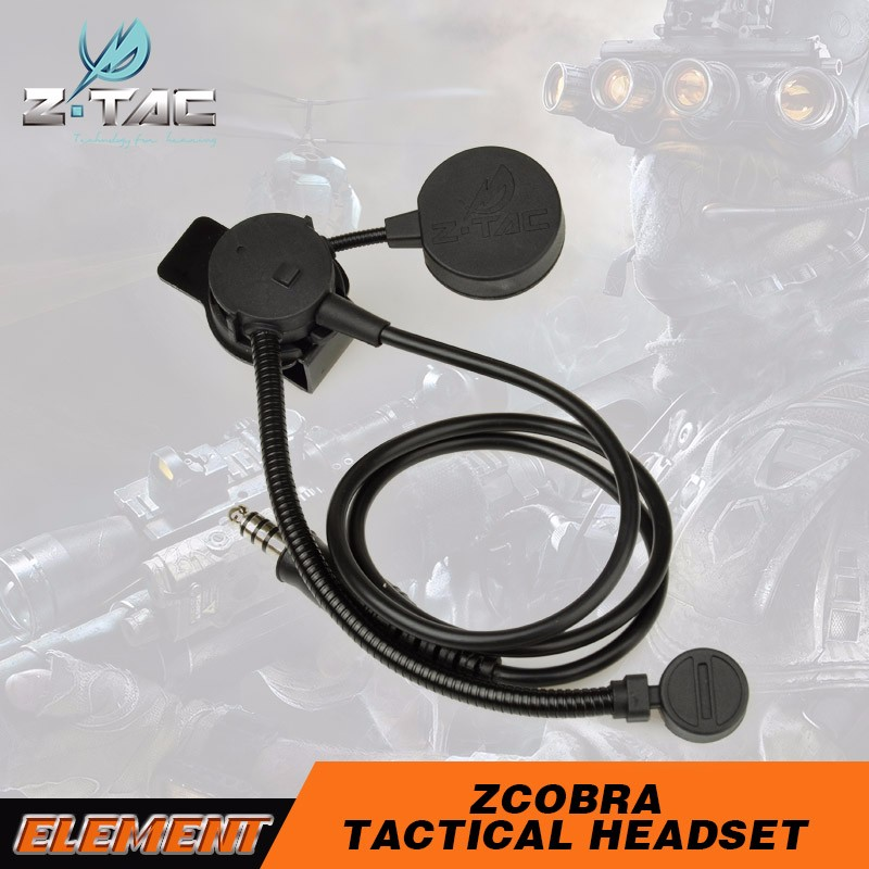 Z-tactical Direct Sale Z COBRA Tactical Military Headset Light <strong>communicator</strong> Multipurpose Use guangzhou Z 043