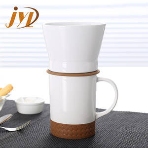 Eco friendly reusable ceramic brewer coffee filter cup for sale