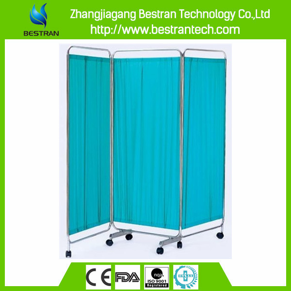 China Supplier BT-CP002 hospital furniture 3 folding hospital ward bed screen medical screens 3 wings ward screen