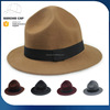 2017 fashion wool felt hat flat brim wool felt hat wool felt floppy hats for ladies