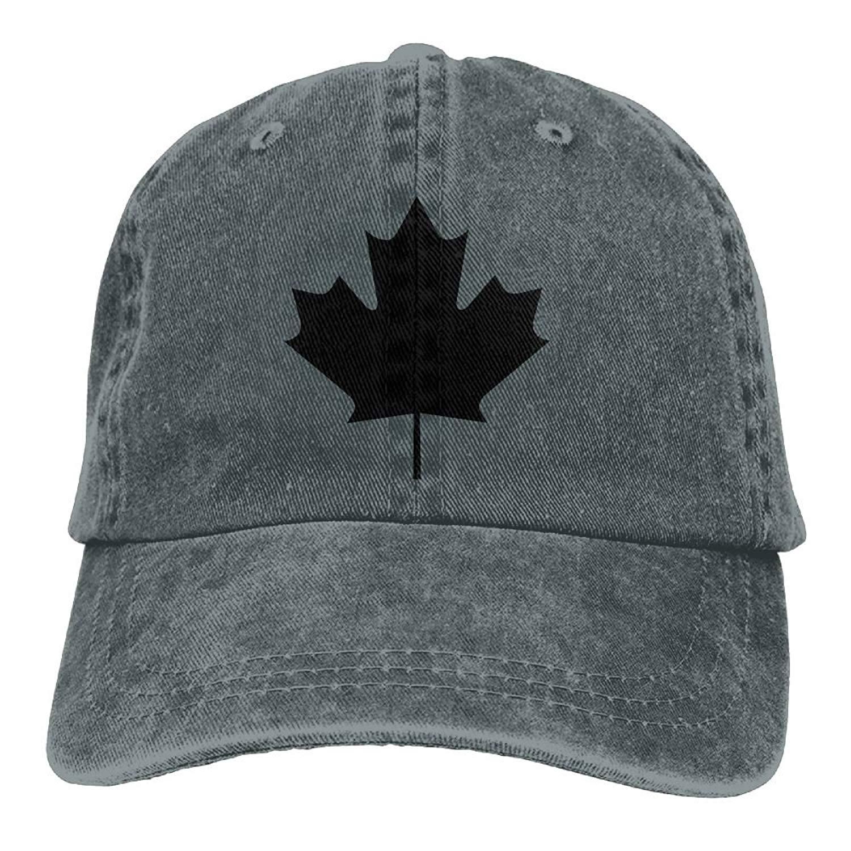 Canada Maple Leaf Canadian Flag Plain Adjustable Cowboy Cap Denim Hat for Women and Men